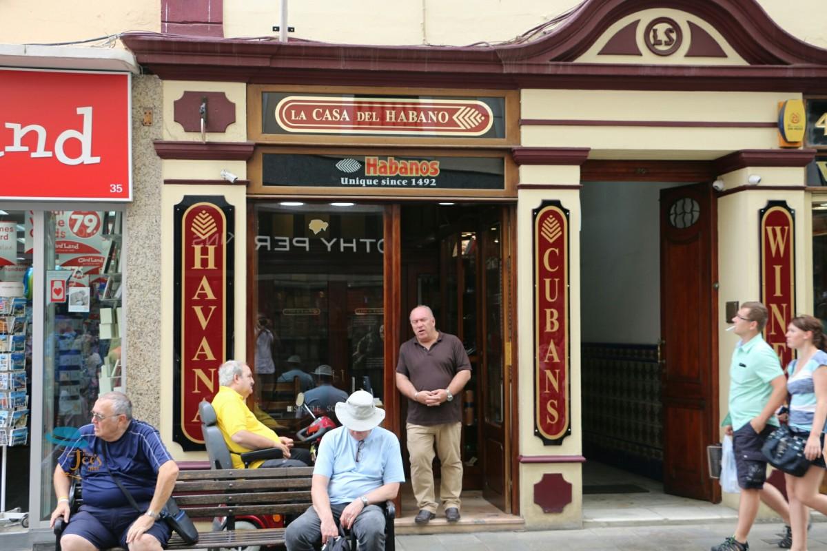 """Vast range of cigars"" La Case de Habanos Gibraltar."