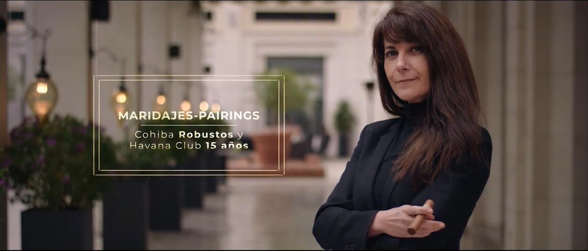 Cohiba Robustos and Havana Club 15 years pairing